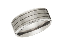 9mm Triple Row Titanium Band
