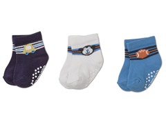 Boys Newborn 3-Pack of Socks