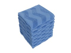 Chevron Wash Cloths S/12-Hyacinth