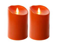 "5"" Indoor/Outdoor Flameless 2 Pk - Tuscan Orange"