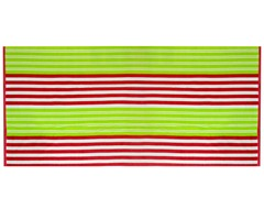 450GSM 36x70 Red & Lime Stripe Towel