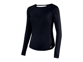 ASICS Women's Fuzex Long Sleeve Top, Performance Black, L