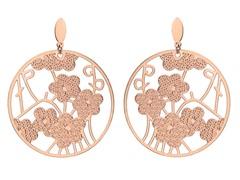 18kt Rose Plated Tree of Flower Earrings