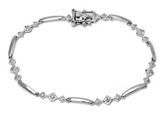 SS Kite Diamond Accent Tennis Bracelet