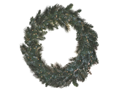 "Snow Pine Wreath 36"" Prelit Clear Lights"