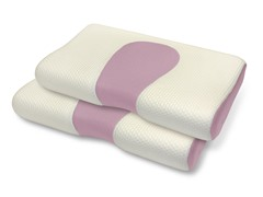 Pure Rest™ Scented Memory Foam Contour Pillow-S/2-Rose