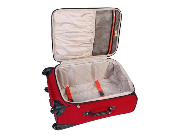 Dockers Presidio 3 Pc Softside Luggage Set Red