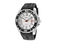 Elini Barokas Black Silicone Silver Dial Watch