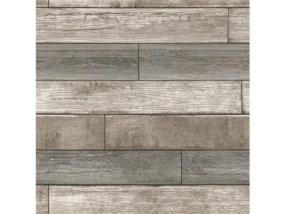 Reclaimed Wood Plank Natural Peel Stick Wallpaper