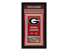 "NCAA Georgia Bulldogs Sports Photo Banner, 14"" x 27"""