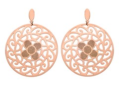 18kt Rose Gold Plated Sunflower Earrings