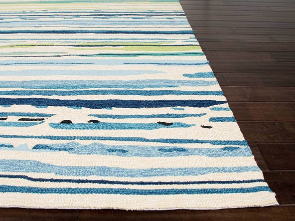 Tropical Lines Polypropylene Area Rug