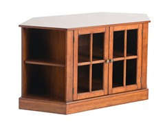 Thomas Corner Media Stand  - Walnut