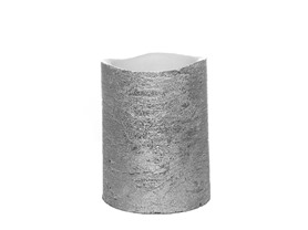 Flameless Candle - Silver Metallic