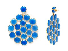 18k Gold Plated SS Chalcedony Earrings