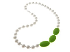 Beaded Teether Necklace White/Green