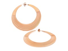 18kt Rose Gold Plated Cut-Out Earrings