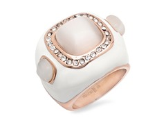 18 kt Rose Gold Plated Ring w/ Pearl