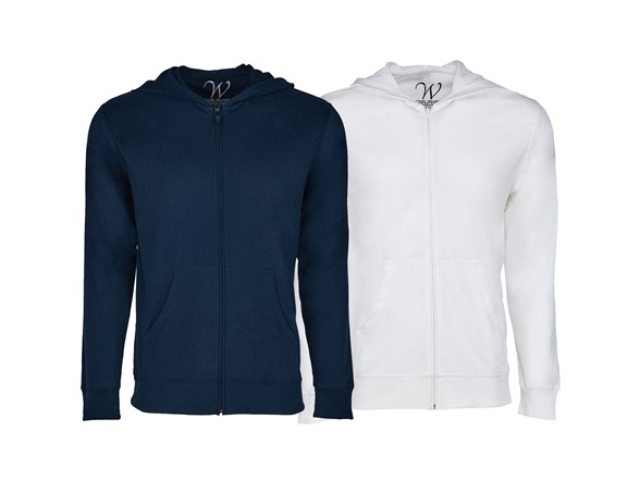 Image of 2-pack Ultra Soft Sueded Zip Up Hoodie