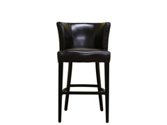 Marge Leather Barstool Dk Brown