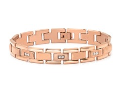 18kt Plated Link Bracelet w/ Sim Diamond
