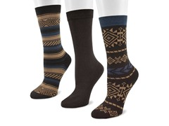 3-Pair Southwest Pack Crew Socks