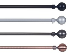 "3/4"" Sphere Curtain Rod 48""-86""-4 Colors"