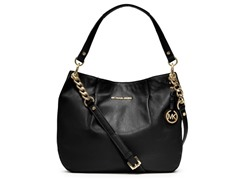 Michael Kors Bedford Large Shoulder Bag, Black