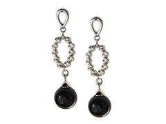 Sterling Silver & Onyx Earrings