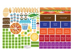 Peel, Play & Learn Fractions Wall Play Set