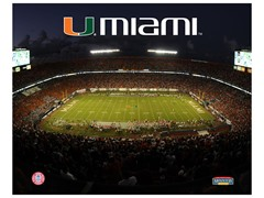"Miami Hurricanes Stadium 8"" x 10"""