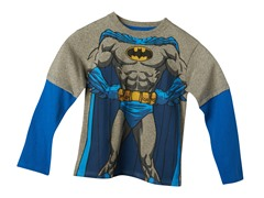 Batman Long Sleeve Tee - Heather Grey (4-7)