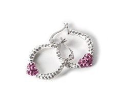 Swarovski Element Heart Hoop Earrings