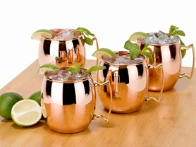 Old Dutch 16oz. Solid Copper Moscow Mule Mugs-S/4