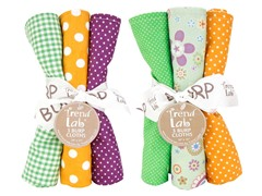 6-Piece Burp Cloth Set- Jelly Bean