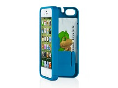 iPhone 5 Case w/Hinged Back - Turquoise