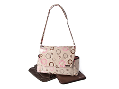 Safari Pink Messenger Bag with Clutch