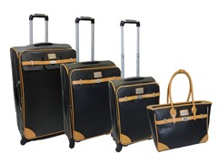 London Bridge Saffiano 4pc Set - Black