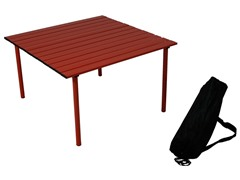 Low Aluminum Portable Table, Red