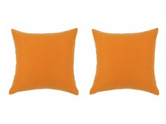 Sensations Orange 17X17 Pillows S/2