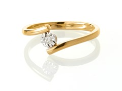 Edgewater Diamond Bypass Gold Plated Ring