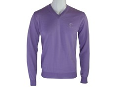 Versace V Neck Sweater, Purple
