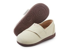 Squeaky Shoe - Sam, Tan Canvas (3-8)