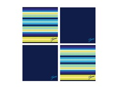 Fiesta Cobalt Cool Stripe Coasters