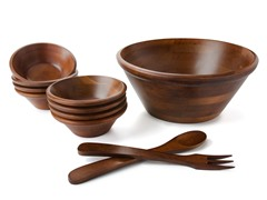 Woodard & Charles Large Salad Bowl Set