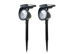2-Piece Solar Spotlight Set