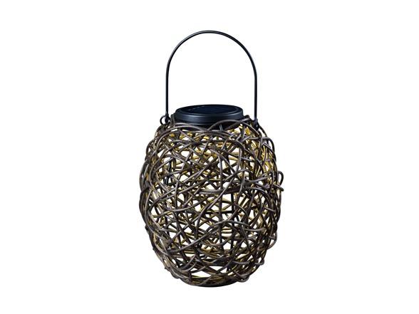 Design Craft Tangle Solar Lantern Black