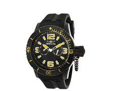 Men's Corduba Black Polyurethane Watch