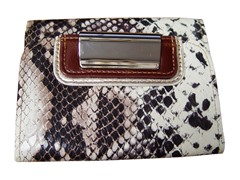 Vecelli Italy Snake Fold Bag