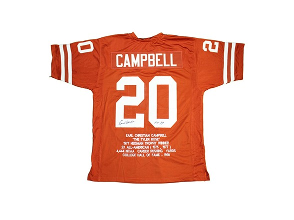 new product ad4c3 00e52 Earl Campbell Signed Texas Jersey